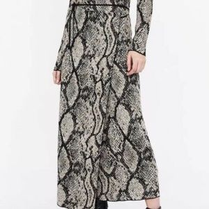 Zara Snake Print Wraparound Skirt Medium